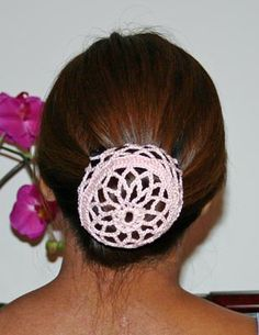 Here's a pattern for a Flower and Stripe Bun Cover. Would look great for a ballet dance class.