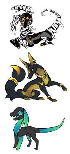 3 Characters up for bids by =Kawiko on deviantART