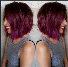 Purple/Pink hue! Would love an ombre with this color