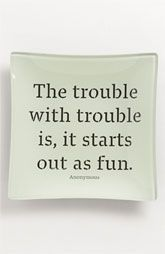 Ben's Garden 'The Trouble with Trouble' Trinket Tray