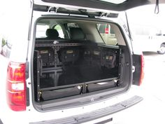 Another example of tactically configured car boots/trunks. Found here