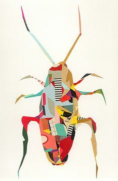 La Cucaracha, 2008 Paper collage, 12 x 6 inches © Greg Lamarche Minibeast Art, Atelier D Art, Jr Art, Beautiful Bugs, Beautiful Collage, Insect Art, Tatoo Art, Tattoo, Bugs And Insects