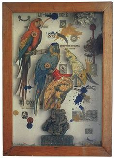 Joseph Cornell, Habitat Group For a Shooting Gallery, 1943