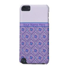 iPod Touch 5g case, Personalize Mauve, Blue Polkas: up to $47.95 - http://www.zazzle.com/ipod_touch_5g_case_personalize_mauve_blue_polkas-179646936513205526?rf=238041988035411422&tc=pintw