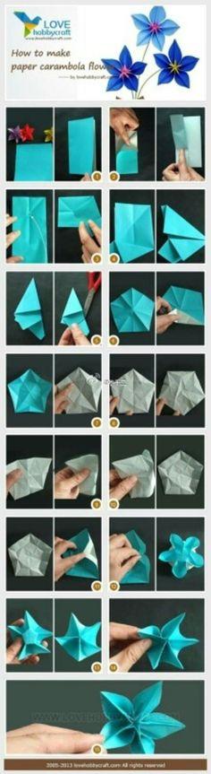 origami tutorial flor
