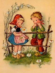 Florynda del Sol ღ☀¨✿ ¸. Christmas Greeting Cards Images, Vintage Greeting Cards, Vintage Postcards, Retro Images, Vintage Pictures, Vintage Images, Vintage Artwork, Vintage Prints, Tarjetas Diy