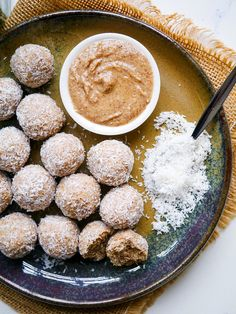 These healthy no food processor protein balls just require a mixing bowl! Easy, gluten free, can easily be made dairy free and vegan. Via nourisheveryday.com