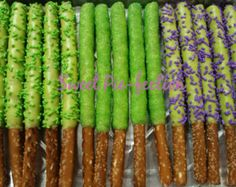 MineCraft Pretzel Rods, Teenage Muntant Ninja Turtle Pretzels, My Little Pony Pretzels, Monsters Inc. - 1 dozen