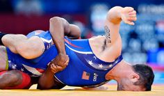 Ow, what a tough #olympics athlete #wrestling