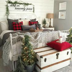 Especially love the sign above the bed