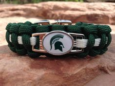 Paracord Bracelet - Michigan State University Pride (Michigan State Sp | Handmade By Heroes