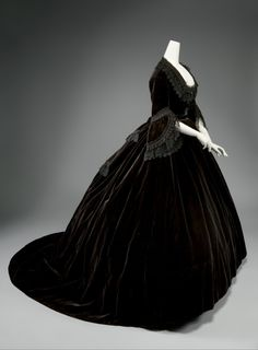 Dress ca. 1861 From the Metropolitan Museum of Art