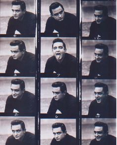 Man in Black #countrymusic #JohnnyCash contact sheet