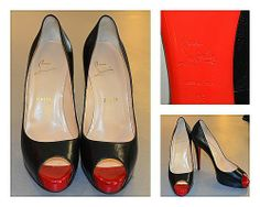 FLIP's Pick of the Day: Christian Louboutin peep toe pumps (8) - $498.98, Original Retail $845!  Stop by to see these heels, plus many more shoes, today & only @ FLIP!!