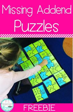 Practice part-part-whole relationships and missing addends with this fun math puzzle. This freebie is perfect for math center time! First Grade Activities, 1st Grade Math, Math Activities, Second Grade, Grade 2, Math Classroom, Kindergarten Math, Teaching Math, Classroom Ideas