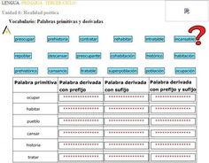 PALABRAS PRIMITIVAS Y DERIVADAS1