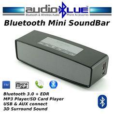 Bluetooth Mini SoundBar BoomBox FM Radio MP3 USB SD reader Connect phone/devices #MicroMedia