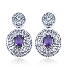 Sterling Silver Amethyst and Blue Topaz Oval Post Earrings Amazon Curated Collection. $39.00. The natural properties and composition of mined gemstones define the unique beauty of each piece. The image may show slight differences to the actual stone in color and texture.. Gemstones may have been treated to improve their appearance or durability and may require special care.. Multi-gemstone. Save 72%!