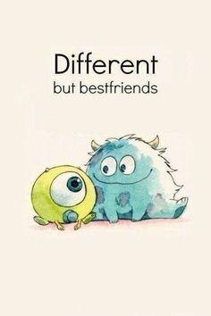 Los mejores amigos del mundo no tienen por qué ser iguales :)