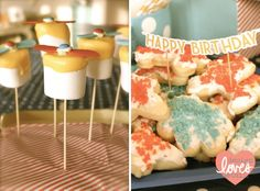Propellor Pops & Airplane Cookies for Vintage Aviator Party-- Design Loves Detail
