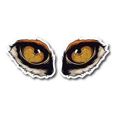Monster Eyes Vinyl Sticker Eye Stickers, Clear Stickers, Monster Stickers, Monster Eyes, White Ink, Mockup, Colorful Backgrounds, Prints, White Tattoos