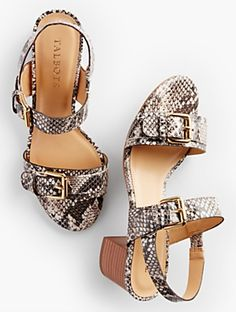 Talbots - Mimi Buckle-Strap Sandals - Exotic Leather |  |  Discover your new look at Talbots. Shop our Mimi Buckle-Strap Sandals - Exotic Leather for stylish clothing and accessories with a modern twist at Talbots