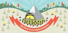 """Infographic charts BBC's """"first digital music festival""""   Infographic   Creative Bloq"""