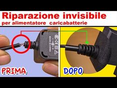TECNICA INVISIBILE per riparare alimentatore caricabatterie iphone samsung - tartaglia channel - YouTube Dremel, Linux, Arduino, Outdoor Power Equipment, Tools, Survival, Samsung, Iphone, Diy