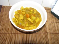 Japanese Chicken curry - less than 250 calories!