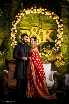 Looking for Beautiful engagement ceremony with a bride in red saree? Browse of latest bridal photos, lehenga & jewelry designs, decor ideas, etc. Desi Wedding Decor, Wedding Stage Design, Wedding Hall Decorations, Wedding Reception Backdrop, Engagement Decorations, Wedding Mandap, Wedding Receptions, Marriage Decoration, Wedding Sarees