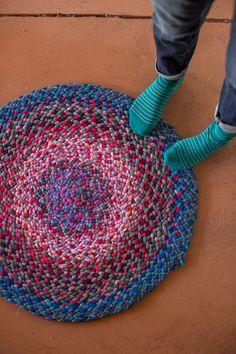 knit i-cord braided rug