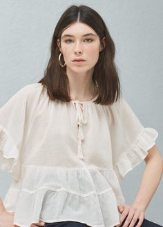 Ruffled blouse -  Women | MANGO USA