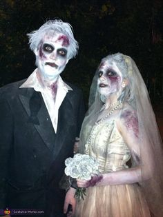 Corpse Bride and Groom Costume - 2012 Halloween Costume Contest