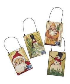 Take a look at this St. Nick & Friends Postcard Ornament Set by Collins on #zulily today!