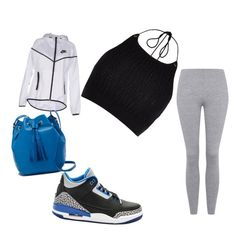 Blueberry Cream by lilcarmelmami on Polyvore featuring polyvore fashion style River Island NIKE Topshop J.Crew clothing