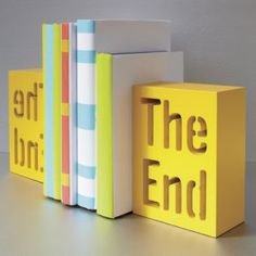 the end bookend in view all accessories | CB2 - $14.95