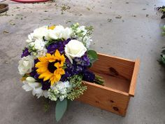 Bridal bouquet- with sunflowers etc