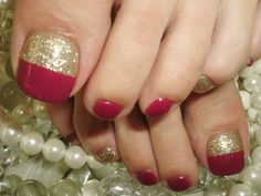 Toenails... Love that deep red!