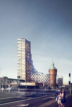 3XN Designs Affordable Housing Tower in Denmark - Courtesy of 3XN