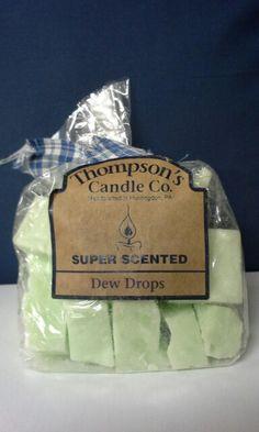 A dew drops wax crumble.
