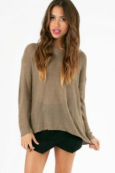 Glam Patched Sweater $40 at www.tobi.com