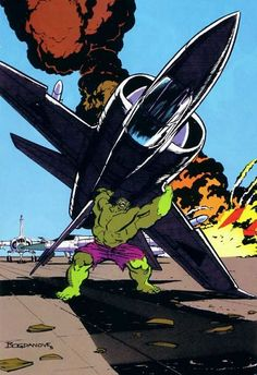 Have you ever been so angry, you threw a plane? (spaceshiprocket:  Hulk by Jon Bogdanove)