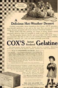 Antique 1908 Ad ~minute Gelatine Tapioca Co Orange Mass. f4