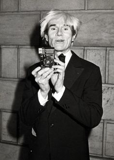 Andy Warhol with a SX-70. Photo: Ron Galella.