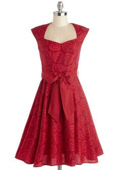 """**SWAPPED** High Noon Harvest Dress in Hearts.  Brand: Retrolicious 