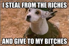 i steal from the riches - Wishbone!