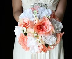 coral and green bouquets | ... Green Flowers | Green Bridesmaid | Green Makeup | Coral and Green
