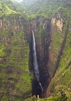 Dramatic Waterfalls Near Sankaber Ethiopia #Africa, #pinsland, https://apps.facebook.com/yangutu