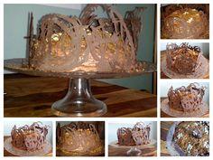 Chocolate cake with caramelized walnuts