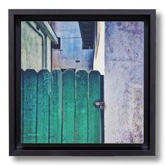 "A study of color and texture, light and shadow on a typical beach town street scene in El Porto, California. OsoPorto canvasbox prints are gallery wrapped stretch canvas, floated in 1 3/4"" deep hardwo"